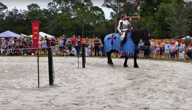 Full contact jousting during the Medieval games. (CraigShipp.com / YouTube Screenshot)