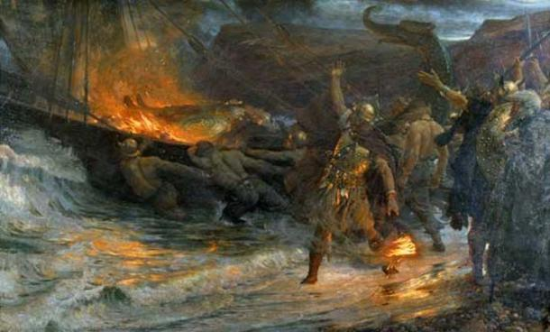'The Funeral of a Viking' (1893) by Frank Dicksee