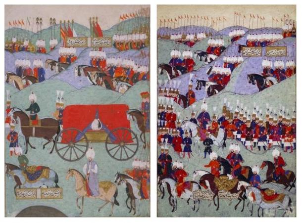 Funeral of the Ottoman Sultan Suleiman the Magnificent