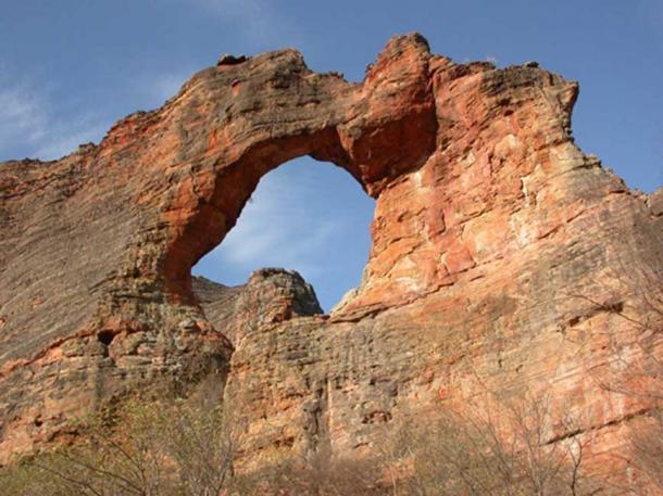 Stone arch at Pedra Furada, Brazil.