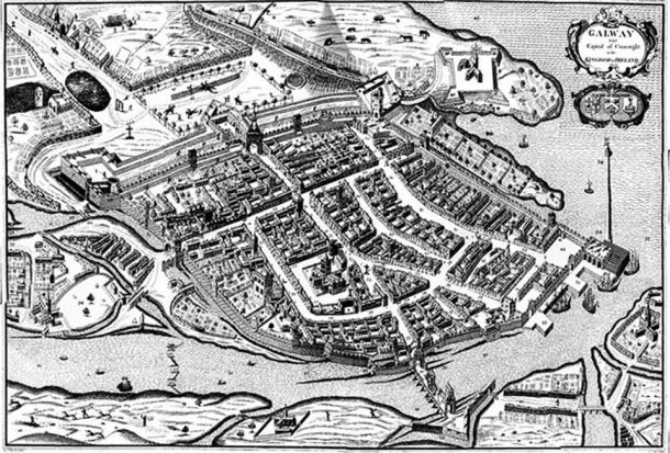 Galway; the last Irish town to fall in Cromwellian Conquest of Ireland. (Red King / Public Domain)