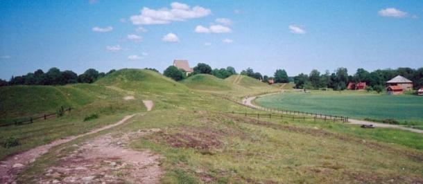 Gamla Uppsala, where a feasting hall was recently excavated