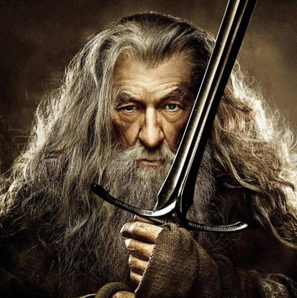 Lord of the Ring's Gandalf with the sword Glamdring