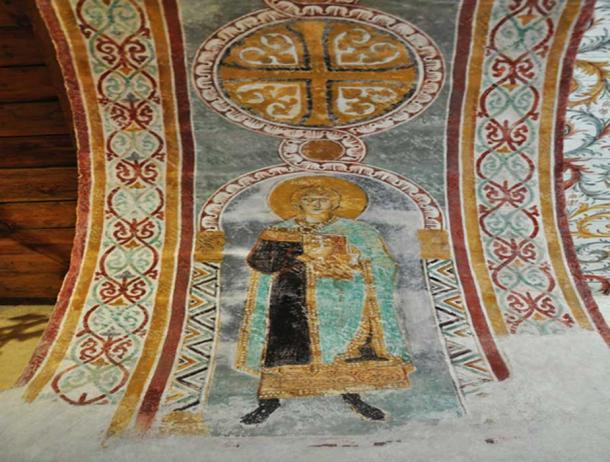 Gärde Church fresco detail