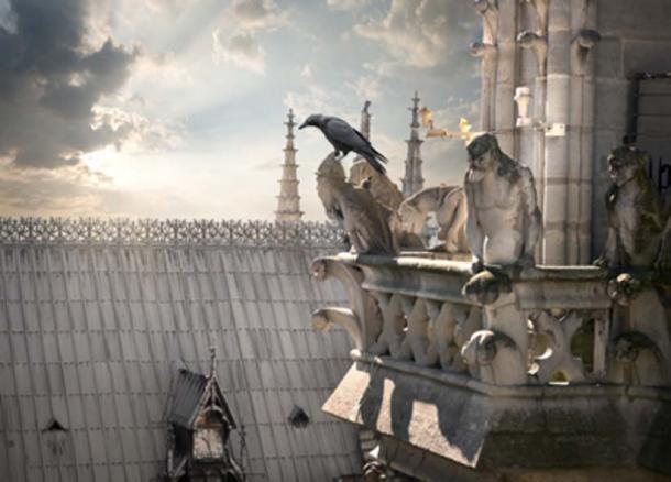 Gargoyles / chimeras on Notre Dame. (Givaga / Adobe Stock)