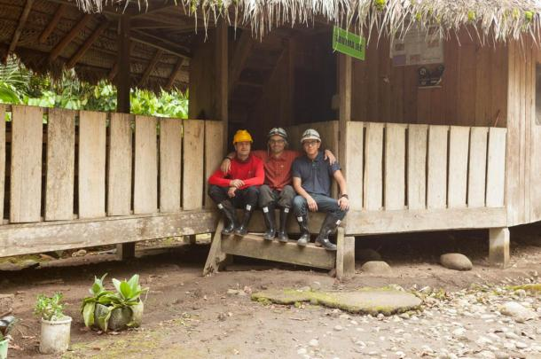 Gary, Ioannis and Chris (left to right) in our lodge