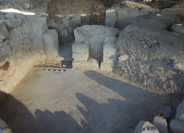 Gate of the so-called 'principia' in Tel Megiddo.
