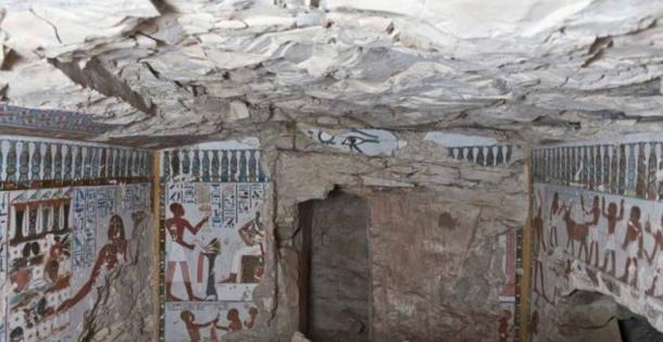 Inside the newly-discovered tomb belonging to the 'Gatekeeper of Amun'
