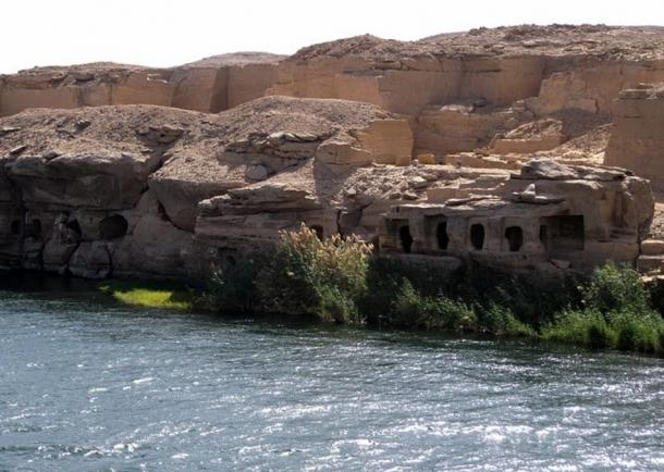 The site of Gebel el Silsila, Egypt