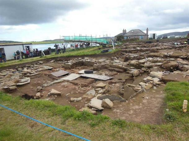 General view of the excavations at the Ness of Brodgar excavations (Image: © Andrew Collins).