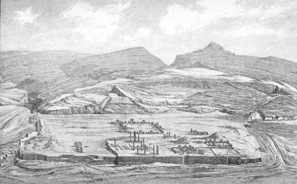 General view of the ruins of Persepolis with the Apadana in the foreground. (पाटलिपुत्र / Public Domain)