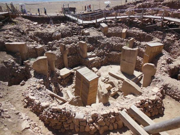 General view of the enclosures in Göbekli Tepe's southeastern depression. (Credit: Andrew Collins)