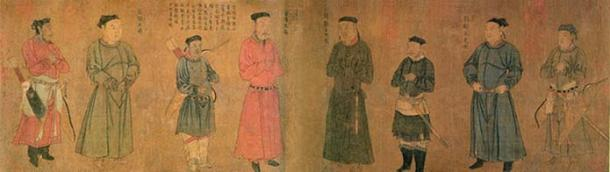 """Four Generals of Zhongxing"" by Southern Song Dynasty artist Liu Songnian (1174–1224). (Public Domain)"