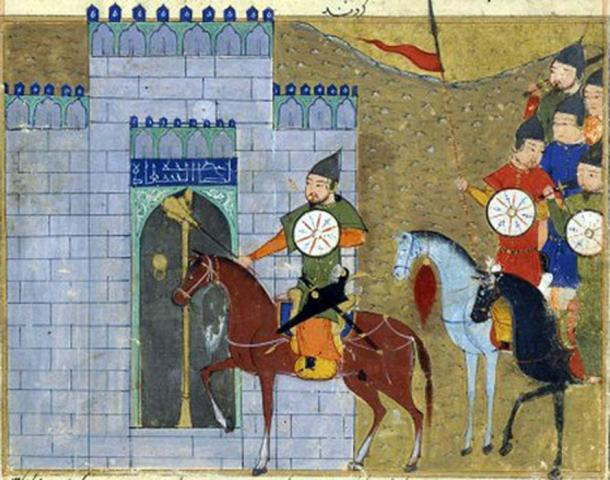 Genghis Khan entering Beijing. (Public Domain)