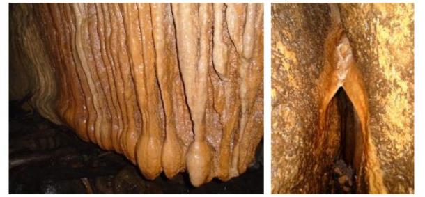 Geological formations within the Tayos Caves at Tayu Jee. Photo credits: the author (2016).