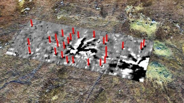 Geophysical survey revealed a lightning strike at the center of the Callanish stone circle. (Dr Richard Bates, University of St Andrews)