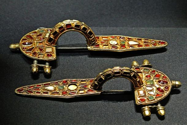 Germanic fibulae (or brooches) from the early fifth century – representative image. The Meldorf fibula come from a crematory grave and bears a ruin inscription.