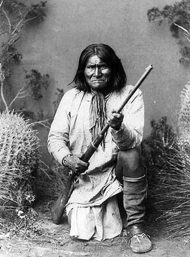Geronimo (Goyathlay, 1820–1909), a Chiricahua Apach