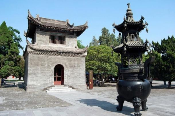 Giant Wild Good Pagoda, Xi'An, China. Ancient Buddhist pagoda built in 652 and rebuilt in 704 under the rule of Empress Wu Zetian.