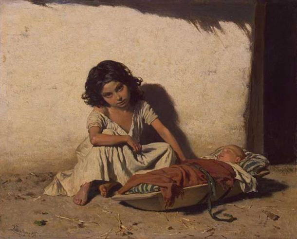 'Gipsy Children' by August von Pettenkofen. (Public Domain)