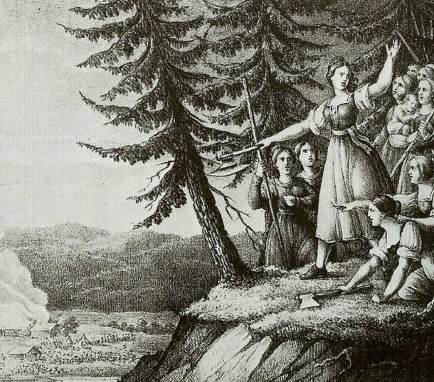 The Girls of Smaland by Hugo Hamilton (1830).