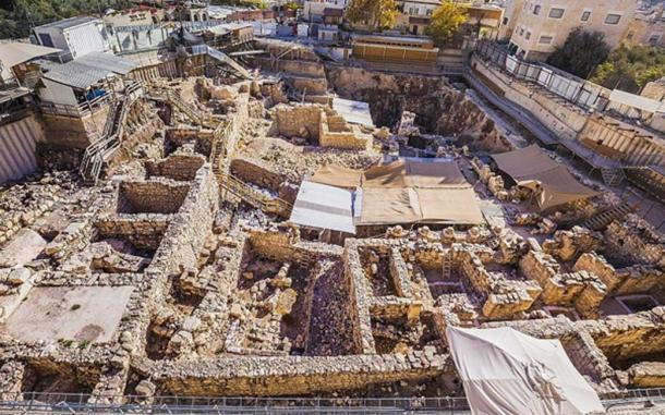 Givati Parking Lot Excavations in the City of David, where the discoveries were made. (Kobi Harati)