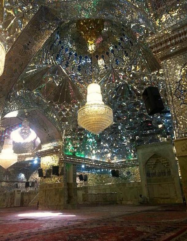 Glass hall in Shah Cheragh.