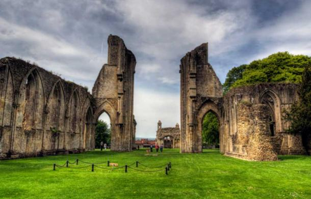 Glastonbury Abbey where King Arthur's body was said to have been interred