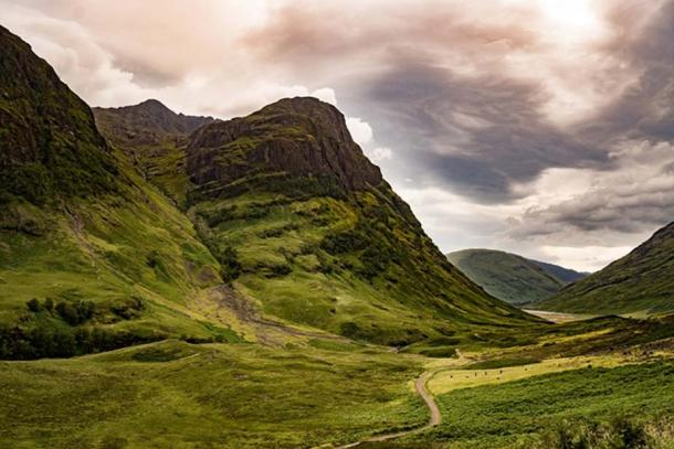Glencoe, Scotland, the site of the MacDonald massacre.