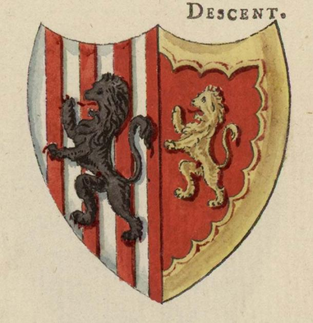 Glyndwr's Coats of Arms; used in the bloody revolt against English rule. (Jason.nlw / Public Domain)