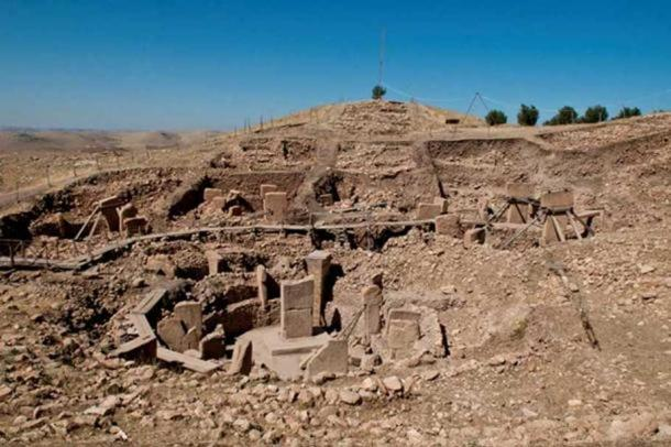 Göbekli Tepe. The whole area was filled with stones and dirt.