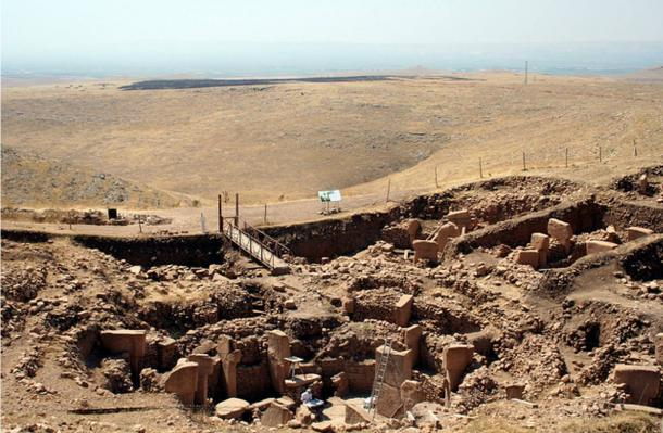 The Göbeklitepe excavation site in Turkey.