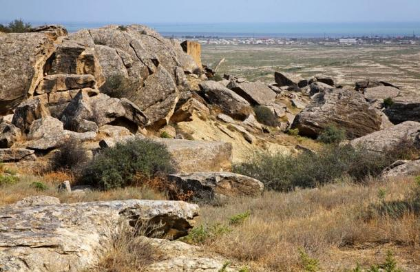 The game board was found in a rock shelter in Gobustan National Park