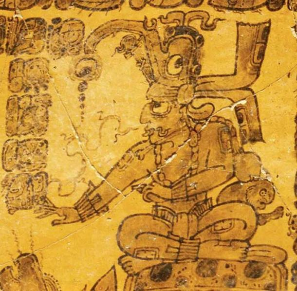 God G - Kinich Ahau – Maya god of the sun also the Maya jaguar god. (mayavase / Public Domain)