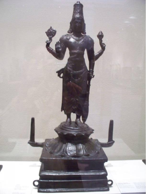 God Vishnu Bronze, 10th–11th century, Coimbatore, Tamil Nadu, India.