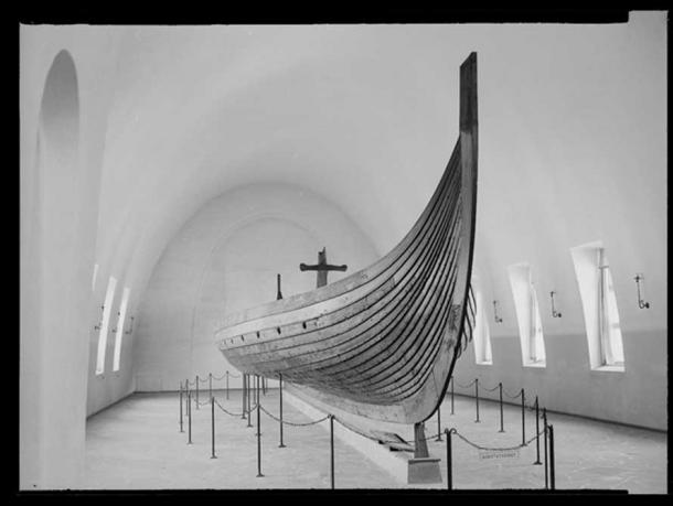 Gokstad Ship by Jac Brun (National Library of Norway.