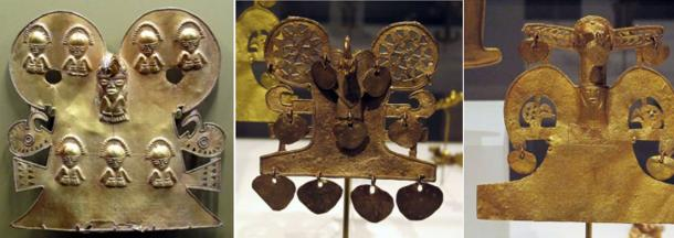 Gold artifacts from the Muisca tribe of Colombia