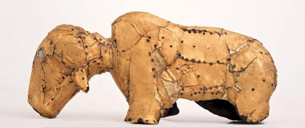 Gold bovine figure from Mapungubwe. Department of UP Arts, University of Pretoria, Author provided