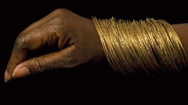 Gold canular coil bracelets Mapungubwe Hill, AD 1250 - AD 1290. (© University of Pretoria)