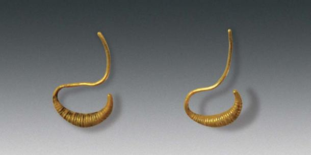 Gold ear rings and other items were found in née Wu's tomb (Image: Courtesy Chinese Cultural Relics)
