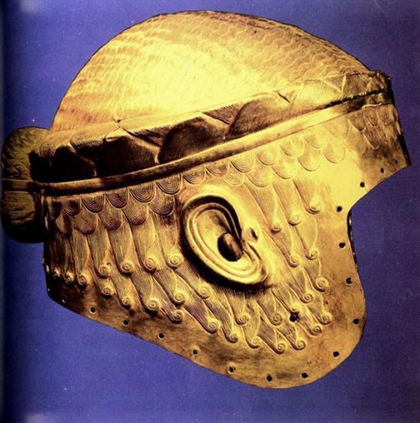 Gold helmet