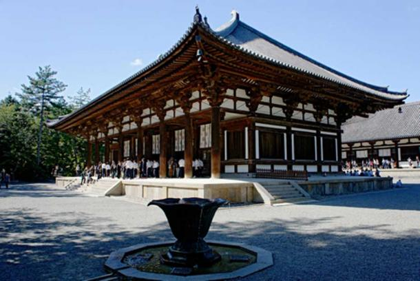 Golden Hall of Tōshōdai-ji in Nara, Japan, Founded 759 AD