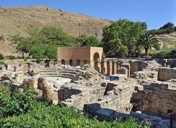 The Gortyn archaeological site, Crete.  The Labyrinth cave is located near this site.