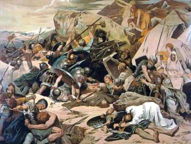 The Goths at the Battle of Mons Lactarius. (Hohum / Public Domain)