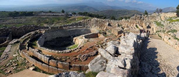 Grave Circle A at Mycenae, Greece