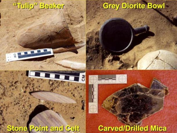 Grave artifacts from 2001-2003 Neolithic excavations. (Author provided/ The Conversation)
