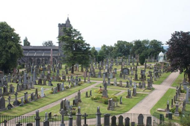 Graveyard outside Stirling Castle.