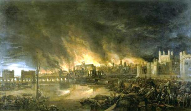 The tumultuous history of the region included the Great Fire of London, 1666.