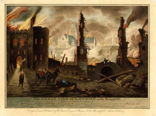 Great Fire of London in the year 1666. (Mabrndt / Public Domain)