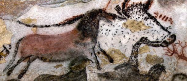 Great Hall of the Bulls, 15,000–13,000 BCE, Paleolithic rock painting, Lascaux, France ©Ministère de la Culture et de la Communication